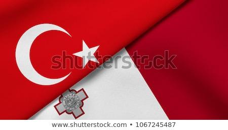 Turquia Malta bandeiras quebra-cabeça isolado branco Foto stock © Istanbul2009