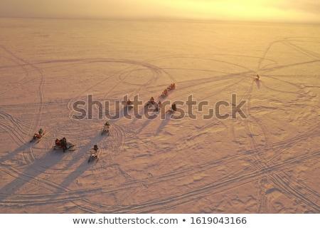 neige · route · tempête · ciel · voiture · travaux - photo stock © hofmeester