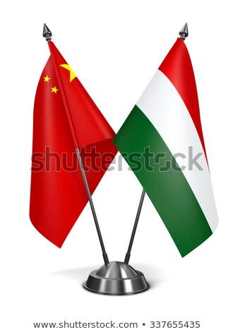 húngaro · bandeiras · bandeira · tecido · vermelho - foto stock © tashatuvango