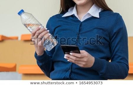 kadın · şeffaf · iş · teknoloji - stok fotoğraf © dolgachov