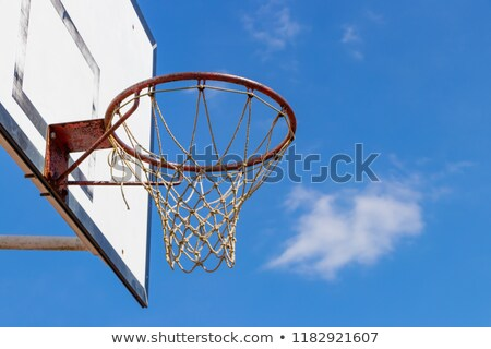 通り · バスケットボール · リング · 青空 · スポーツ · 背景 - ストックフォト © stevanovicigor
