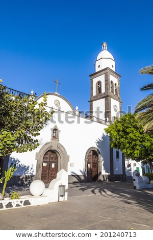 beautiful church of San Gines in Arrecife   Stock photo © meinzahn