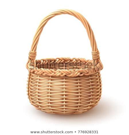 isolated traditional handmade basket Stock photo © taviphoto