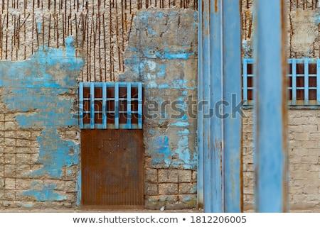 Oude industriële rot roestige gesloten ijzer Stockfoto © meinzahn