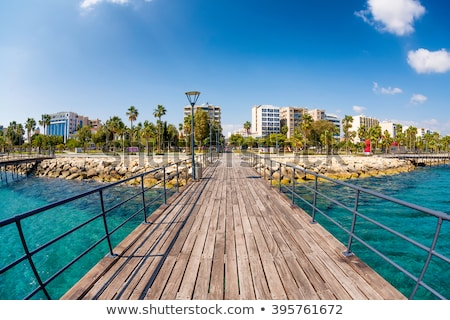 Zdjęcia stock: Limassol Enaerios Seafront View From Old Wooden Pier Cyprus