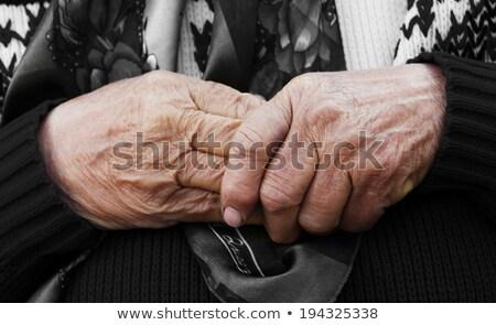 aging process   very old senior woman hands wrinkled skin stock photo © zurijeta