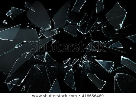 Podziale czarny szkła odizolowany wandalizm streszczenie Zdjęcia stock © Arsgera