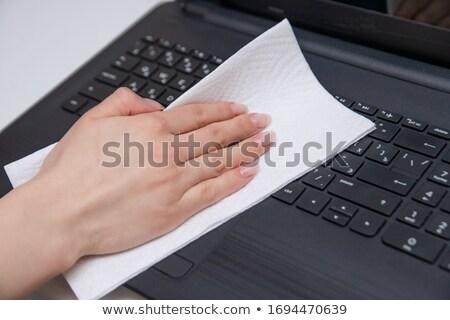 Schmutzigen Tastatur unhygienisch Ausrüstung Büro zu Hause Stock foto © smuay