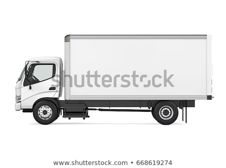 Camion de livraison isolé blanche affaires livraison Photo stock © Kzenon