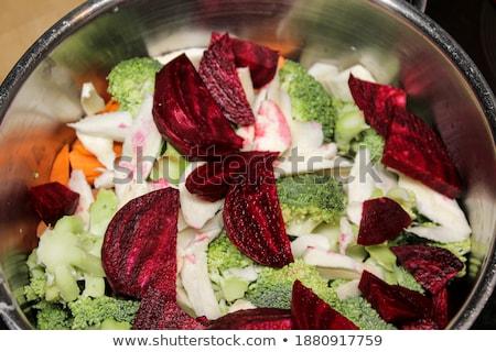 свежие свекла разделочная доска продовольствие растительное здорового Сток-фото © Digifoodstock