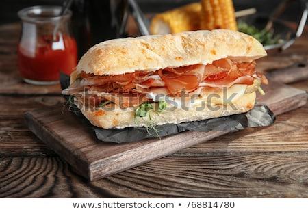 Prosciutto sandwich brood Stockfoto © Digifoodstock