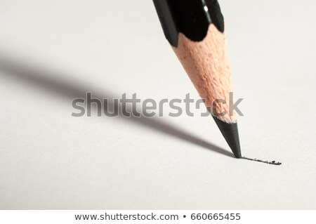 Forte crayons noir conseils blanche Photo stock © FER737NG