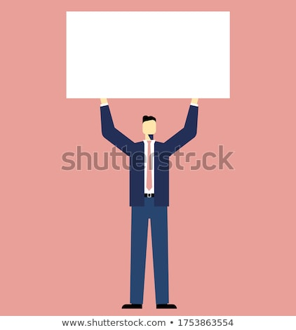 vector businessman with hands up stock photo © leedsn