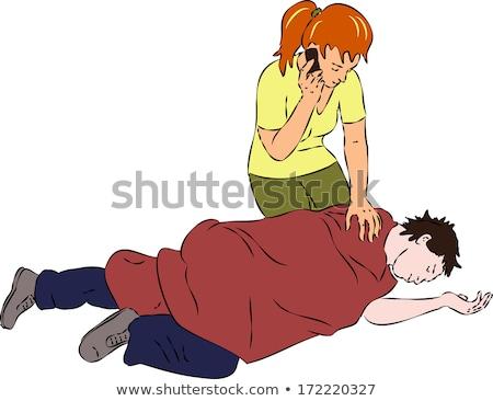 Resuscitating unconscious boy Stock photo © lovleah