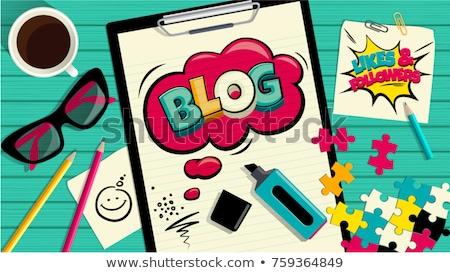 パズル 言葉 ブログ パズルのピース オフィス インターネット ストックフォト © fuzzbones0