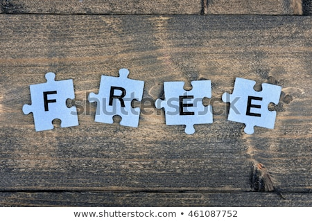 головоломки · слово · свободный · головоломки · строительство · игрушку - Сток-фото © fuzzbones0