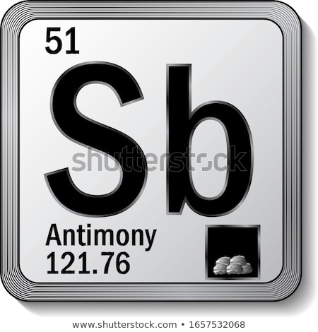 A button with the chemical Antimony Stock photo © bluering