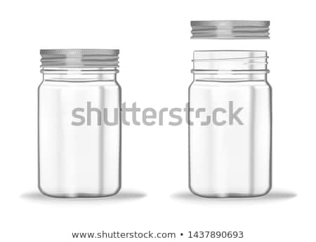 Augurken jar illustratie achtergrond kunst fles Stockfoto © bluering
