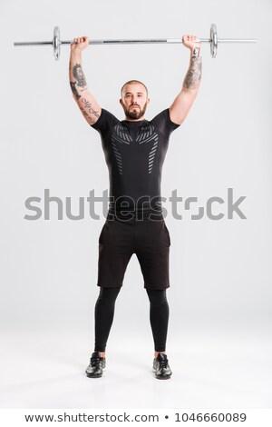 Kép fiatal erős férfi gyártmány sport Stock fotó © deandrobot
