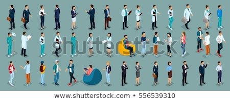 woman character vector in isometric projection stock photo © robuart