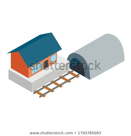Concrete sleeper in isometric, vector illustration. Stock photo © kup1984