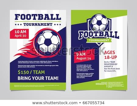 futball · klub · sportok · bajnokság · szórólap · sablon - stock fotó © SArts