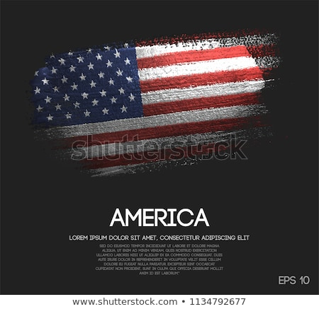 Flag of the USA with sparkles Stock photo © Nobilior