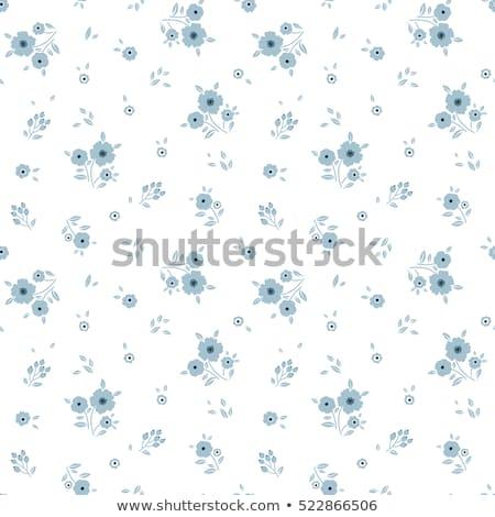 Cinza simples teste padrão de flor textura fundo tecido Foto stock © SArts