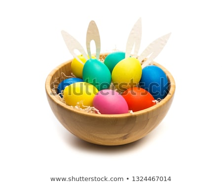 easter eggs into a bowl stock photo © artjazz