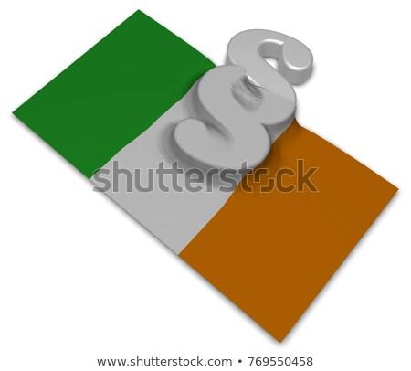 Paragraf simge İrlandalı bayrak 3d illustration Avrupa Stok fotoğraf © drizzd