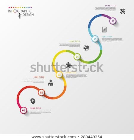 ベクトル パズル インフォグラフィック タイムライン テンプレート レポート ストックフォト © orson