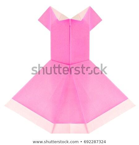 Bella estivo rosa abito origami isolato Foto d'archivio © brulove
