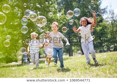 bulles · de · savon · portrait · cute · peu - photo stock © fotoyou