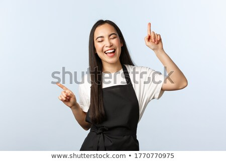 The woman is dancing in the store Stock photo © tekso