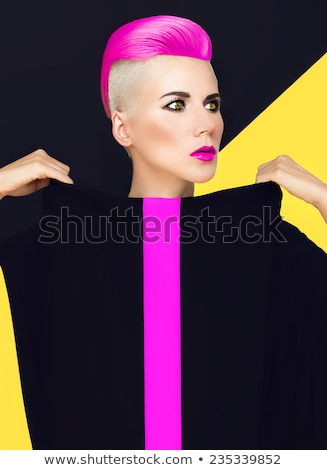 Vogue style photo of a gothic woman Stock photo © konradbak