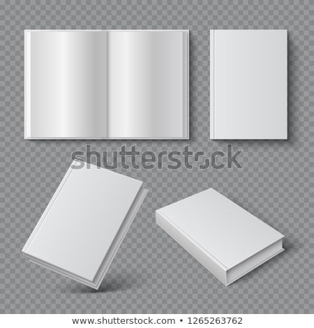 Set hardcover open and close book Stock photo © orensila