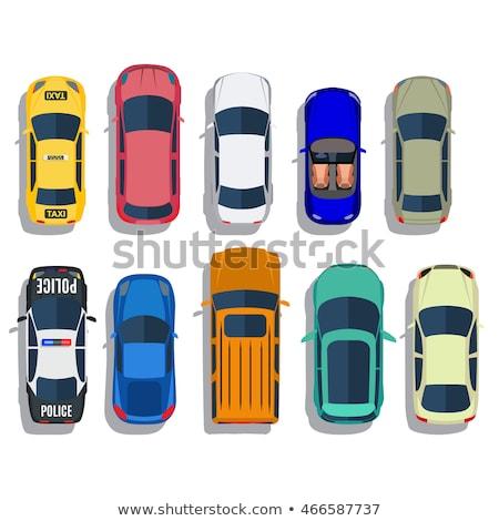 Roxo sedan carro isométrica 3D vetor Foto stock © Genestro