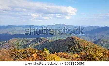 ősz díszlet hegyek Grúzia tájkép kilátás Stock fotó © Kotenko