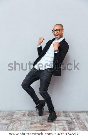 lachend · zakenman · vector · ontwerp · vrolijk · man - stockfoto © rastudio