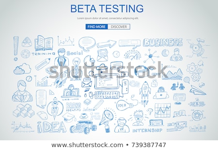 Foto d'archivio: Beta · test · business · doodle · design · stile