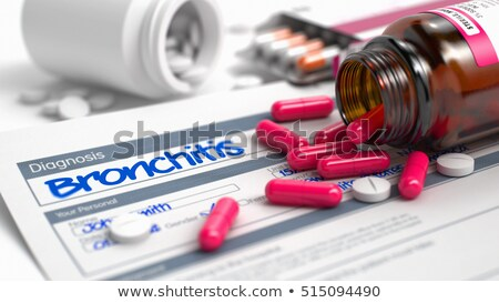 asthma   text in disease extract 3d stock photo © tashatuvango