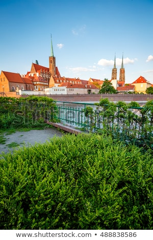 Ancient city Wroclaw on a sunny day. Location Cathedral of St. J Stock photo © Leonidtit