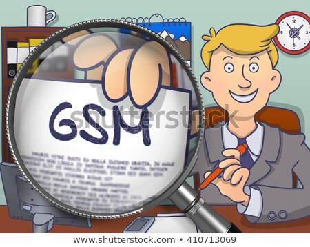 GSM through Magnifier. Doodle Style. Stock photo © tashatuvango