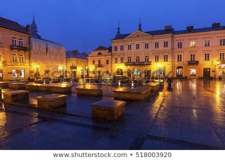 Rain on Market Square in Piotrkow Trybunalski Stock photo © benkrut