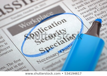 We are Hiring Application Security Specialist. 3D. Stock photo © tashatuvango