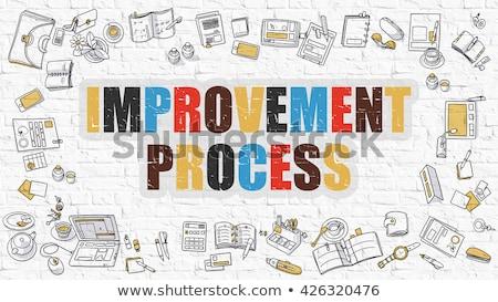 Improvement Process in Multicolor. Doodle Design. Stock photo © tashatuvango