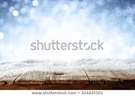Natal neve inverno madeira cinza Foto stock © romvo