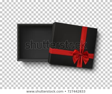 open · scatola · regalo · top · view · metà - foto d'archivio © leo_edition