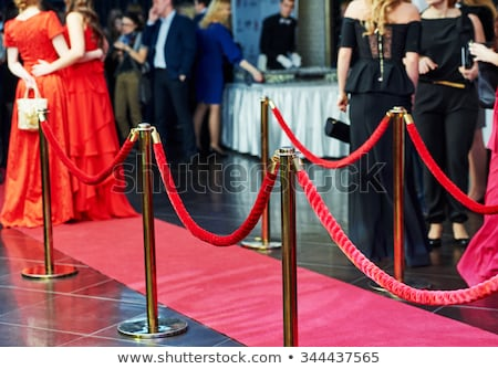 Red carpet with red ropes on golden stanchions Stock photo © pakete