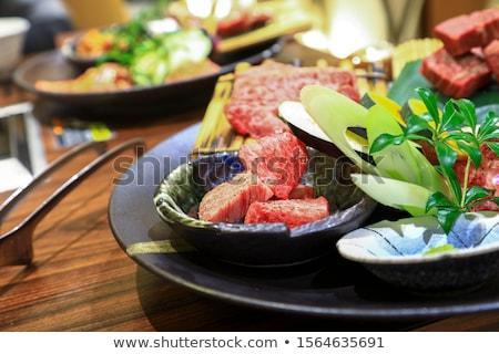 heerlijk · rundvlees · houten · tafel · voedsel · koe · restaurant - stockfoto © daboost
